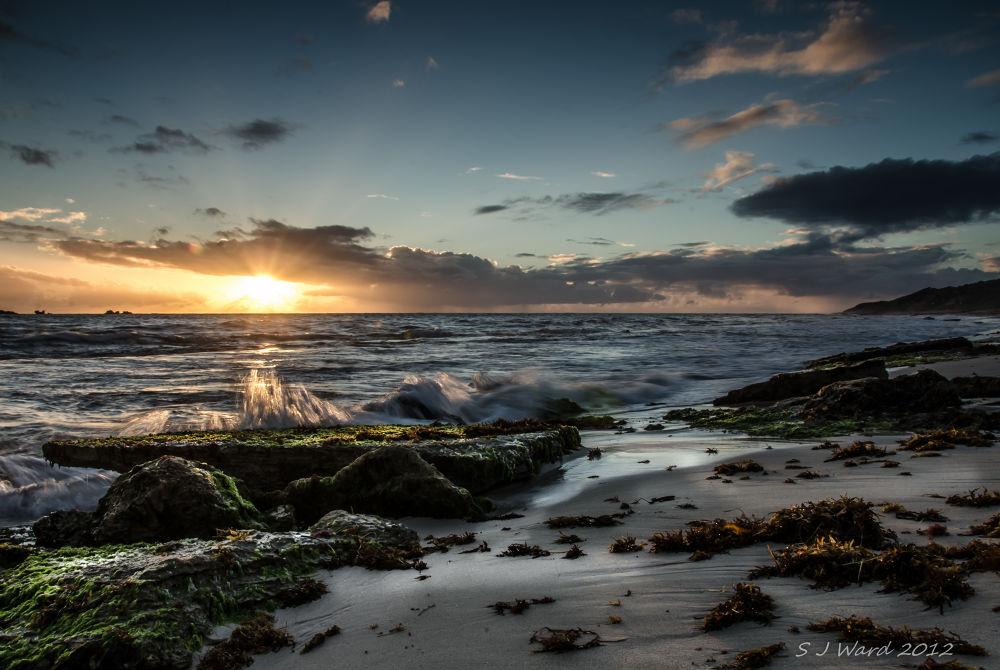 Sunset Burns beach, Perth Western Australia. by stevo