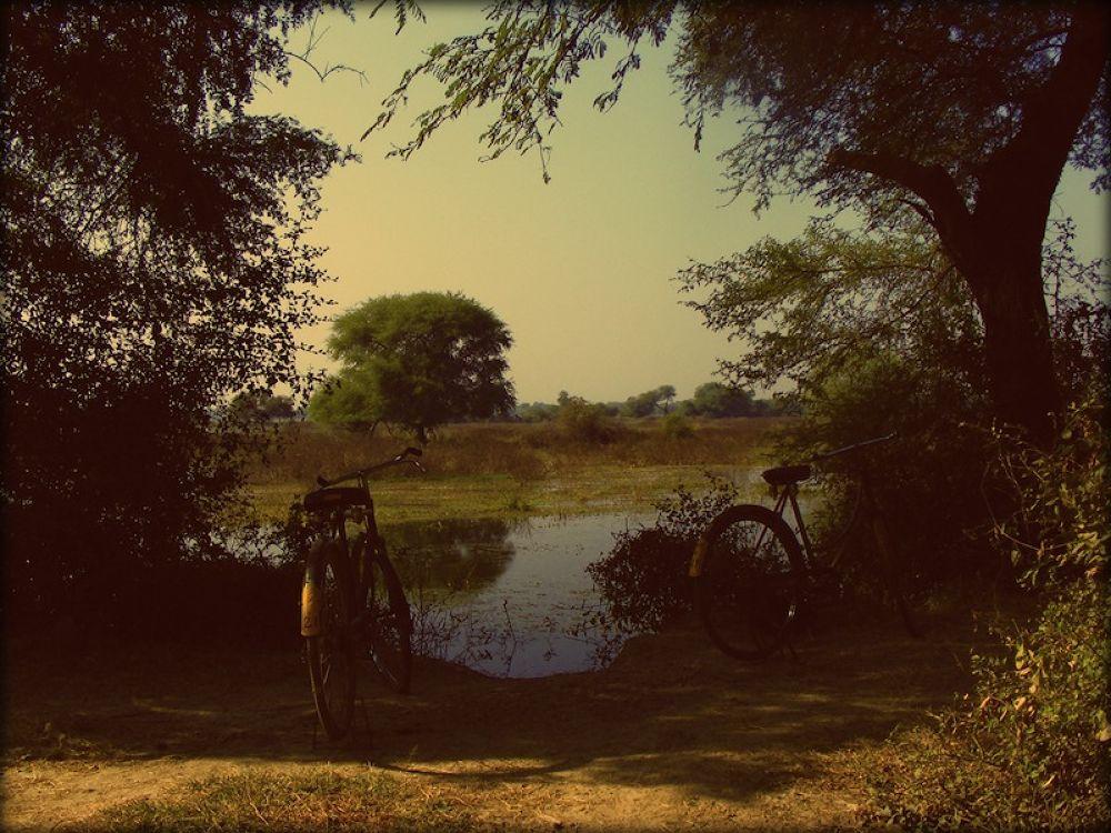 biking in INDIA by sebasartwork