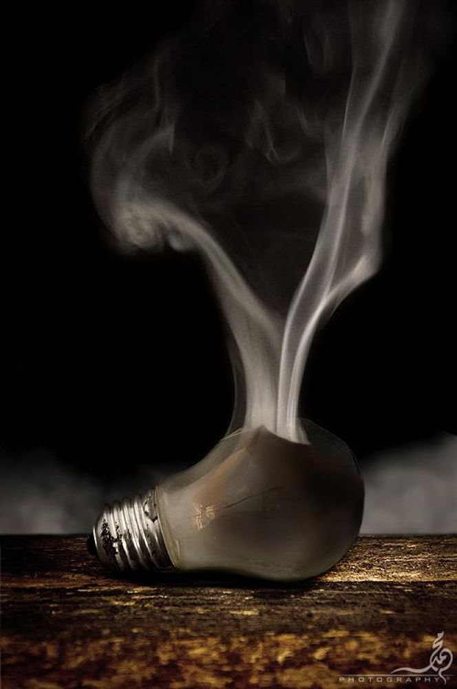 Smoking Bulb by M.Khan  م.خان