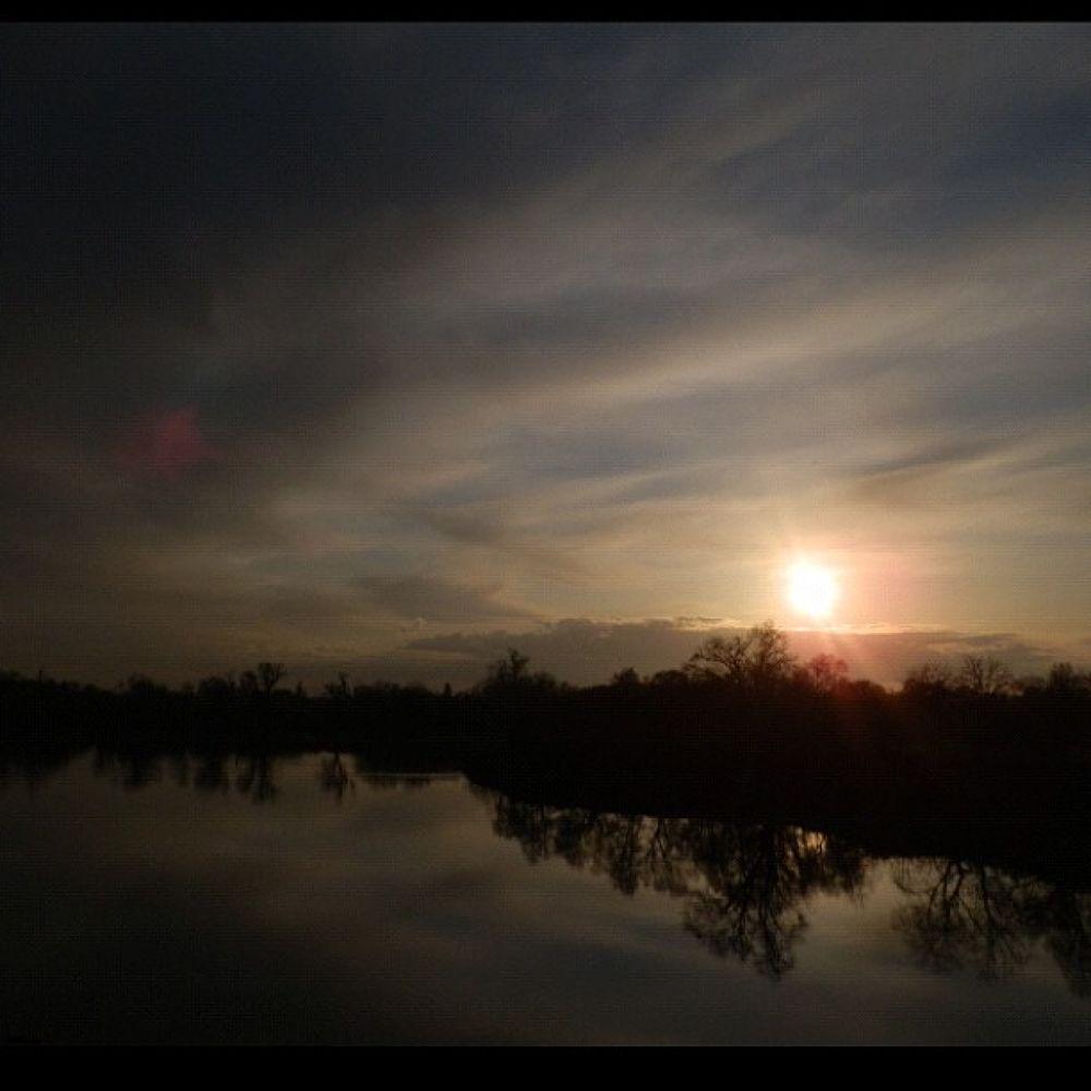 Photo in Random #youpic #river #photography #clouds #reflection #trees #california #sunset #sun #sacramento #sacramentoriver