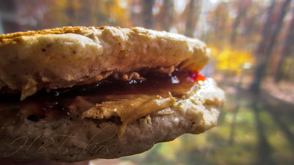 Pancake PBJ SAMICH  by tseliosbrad