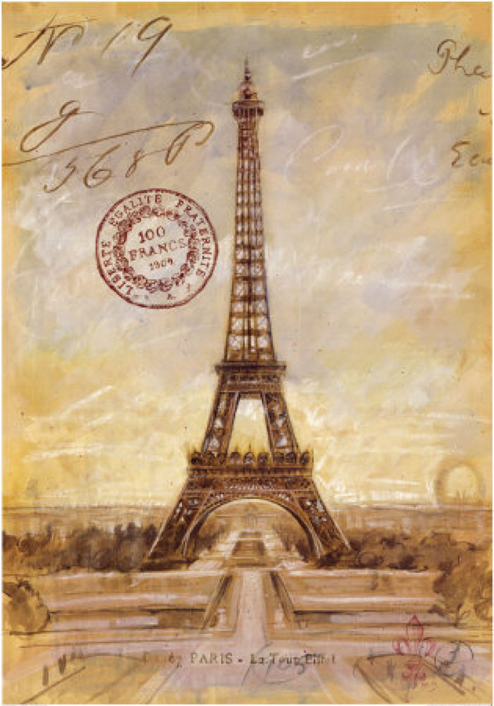 A2963_CAT~Eiffel-Tower-Sketch-Posters by test123