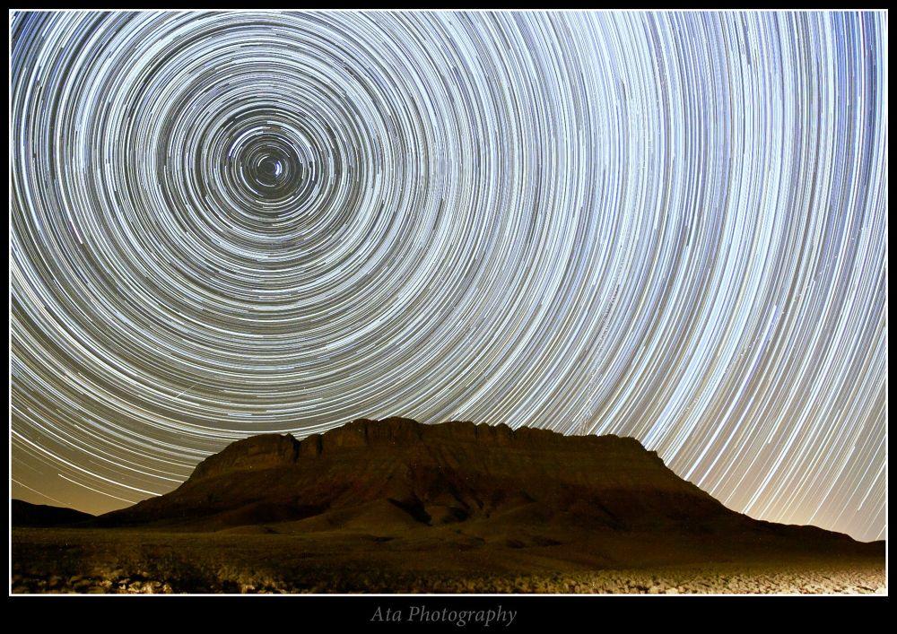 Star trails   by atamoghtaderi