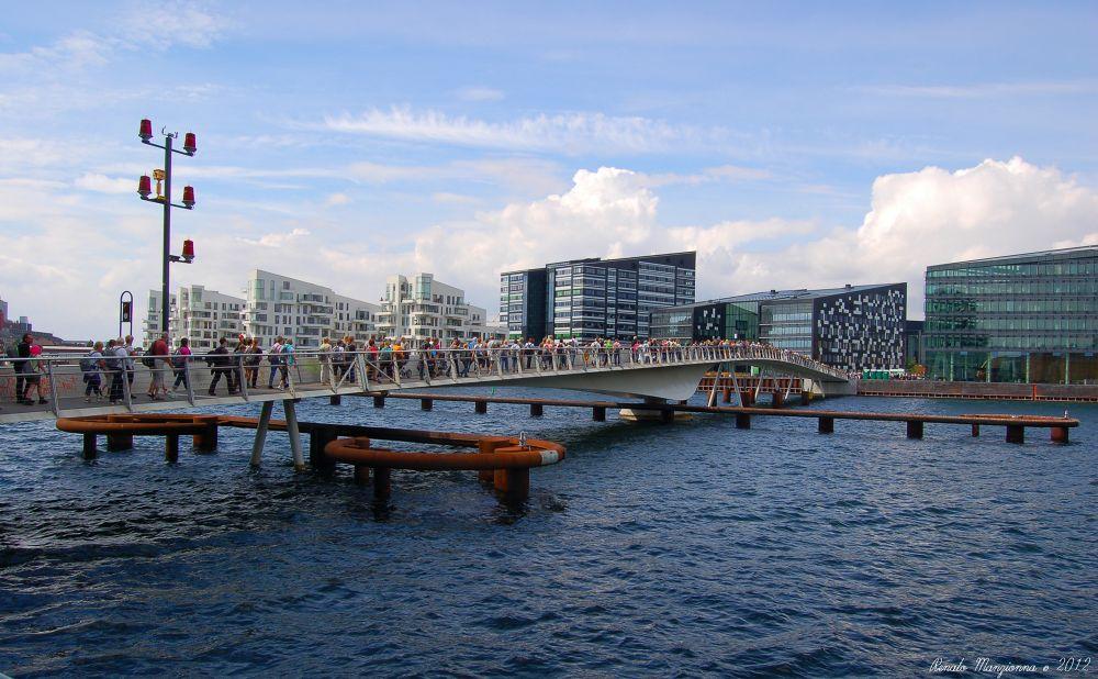 Brygge Bridge in Copenhagen by Renato Manzionna