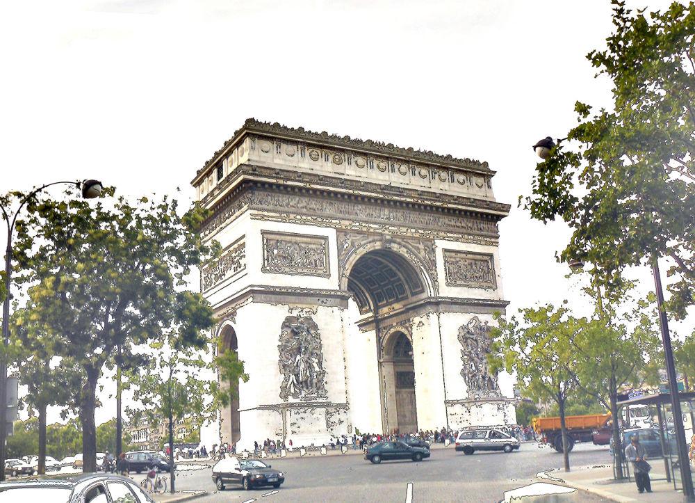 L'Arc de Triomphe. Paris by DavidRoldan